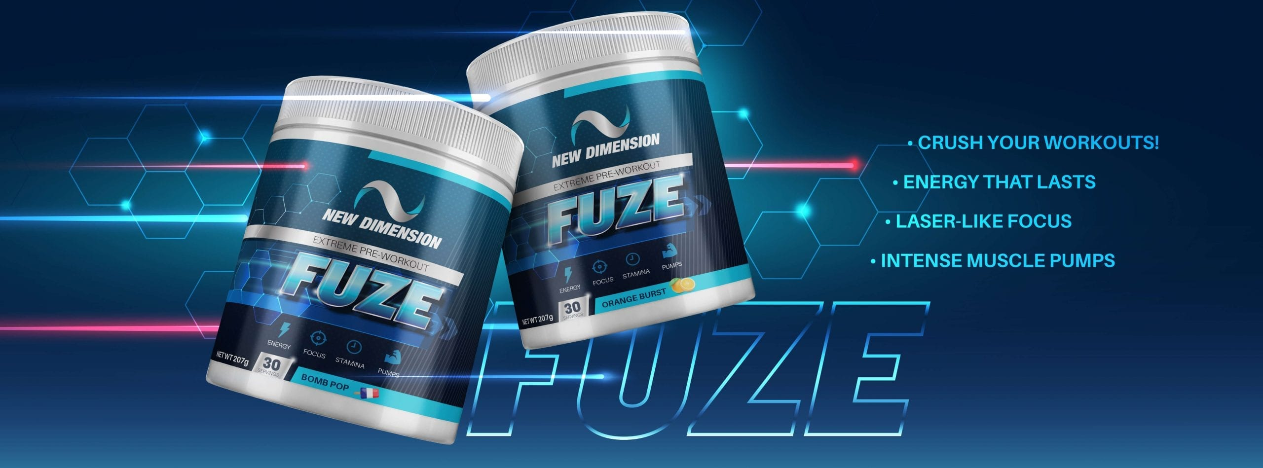 FUZE Pre Workout In-Page In Stock