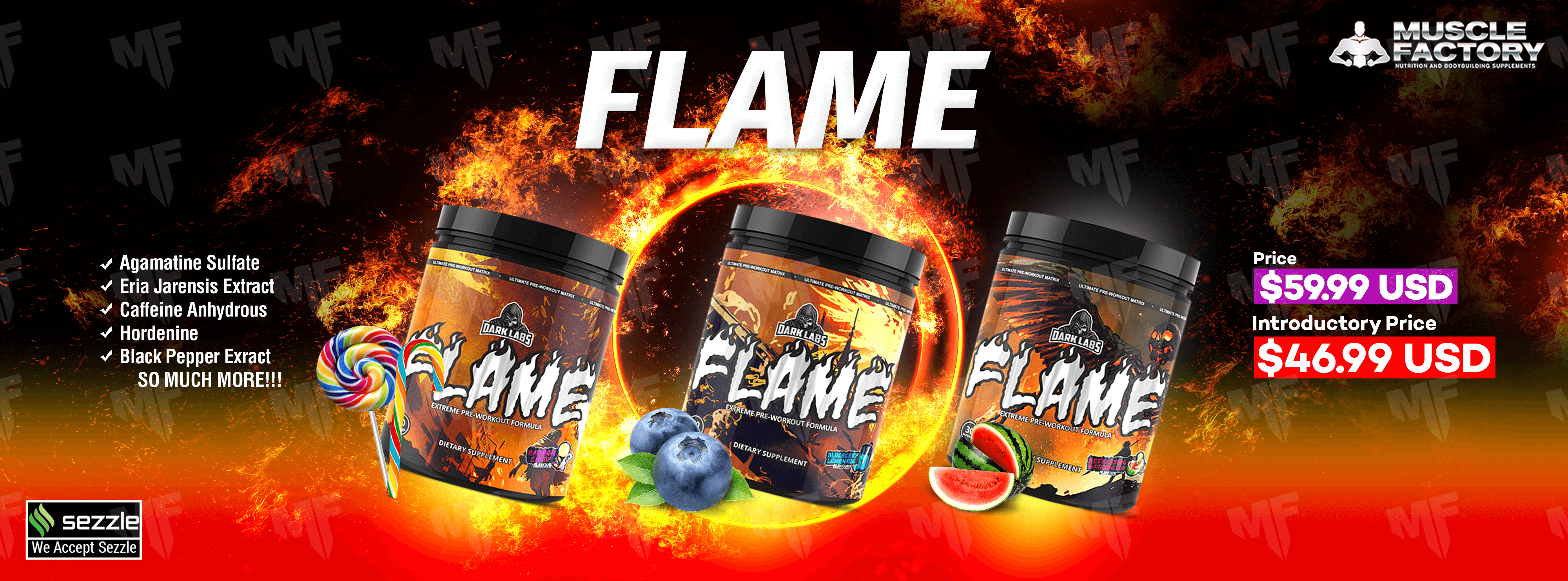 Flame Pre-Workout Banner MF